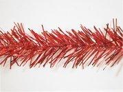 Vánoční řetěz široký červený - 1823