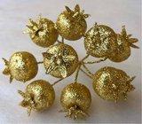 Vánoční přízdoba Šípek třpitivý zlatý  TY86-2732