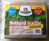 Netkaná textilie béžová 1,6x5m. Ochrana rostlin proti mrazu