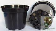 Kontejner pěstební plastový SBX 1,5 l černý 15 cm