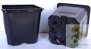 Kontejner plastový  VQB 9x9x8 černý