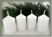 Bony Svíčka adventní 4ks - bílá 40 x 60 mm