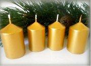 Bony Svíčka adventní 4ks - zlatá 40 x 60 mm