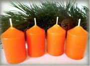 Bony Svíčka adventní 4ks - oranžová 40 x 60 mm