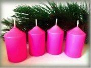 Bony Svíčka adventní 4ks - růžová 40 x 60 mm
