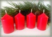 Bony Svíčka adventní 4ks - červená 40 x 60 mm