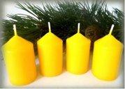 Bony Svíčka adventní 4ks - žlutá 40 x 60 mm