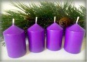 Bony Svíčka adventní 4ks - fialová 40 x 60 mm