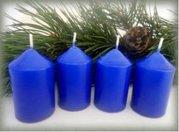 Bony Svíčka adventní 4ks - tmavě modrá 40 x 60 mm