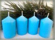 Bony Svíčka adventní 4ks - světle modrá 40 x 60 mm