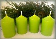 Bony Svíčka adventní 4ks -světle zelená 40 x 60 mm