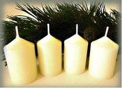 Bony Svíčka adventní 4ks - slonová kost 40 x 60 mm