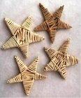 Vánoční Dekorace Lata tvar hvězdy 4 kusy