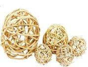 Vánoční Dekorace Lata Ball přírodní 6 cm 4 kusy