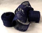 Jutová stuha 4cm x 3m - tmavě modrá 1ks
