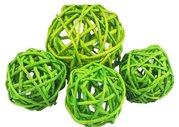 Vánoční Dekorace Lata Ball zelený 4 cm  4 kusy