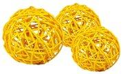 Vánoční Dekorace Lata Ball žlutý 4 cm 4 kusy