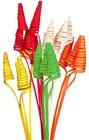 Vánoční Dekorace Cane cone červený 5 ks