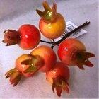 Vánoční přízdoba  Šípek velký oranžově žlutý 6 kusů