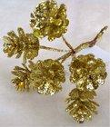 Vánoční přízdoba Šiška zlatá  TY76-10710