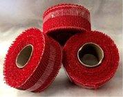 Jutová stuha 5cm x 5m červená 1ks
