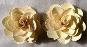 Vánoční Dekorace Wood Petal Rose 8 cm, 2 ks