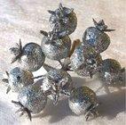 Vánoční přízdoba Šípek třpitivý stříbrný  TY86-2732