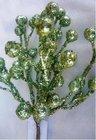 Vánoční přízdoba Bobule glitr Zelené  TY86-1064