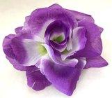 Růže látková fialovobílá