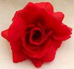 Růže látková červená