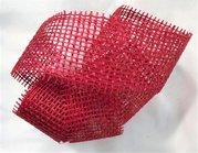 Jutová stuha 5cm x 3m - červená 1 ks