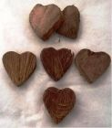 Vánoční Dekorace Kokosové srdce 6 ks