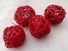 Vánoční Dekorace Lata ball červený 4cm, 4 kusy