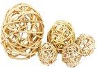 Vánoční Dekorace Lata ball přírodní 4 cm, 4 kusy