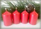 Bony Svíčka adventní 4ks -  metal červená 40 x 60 mm